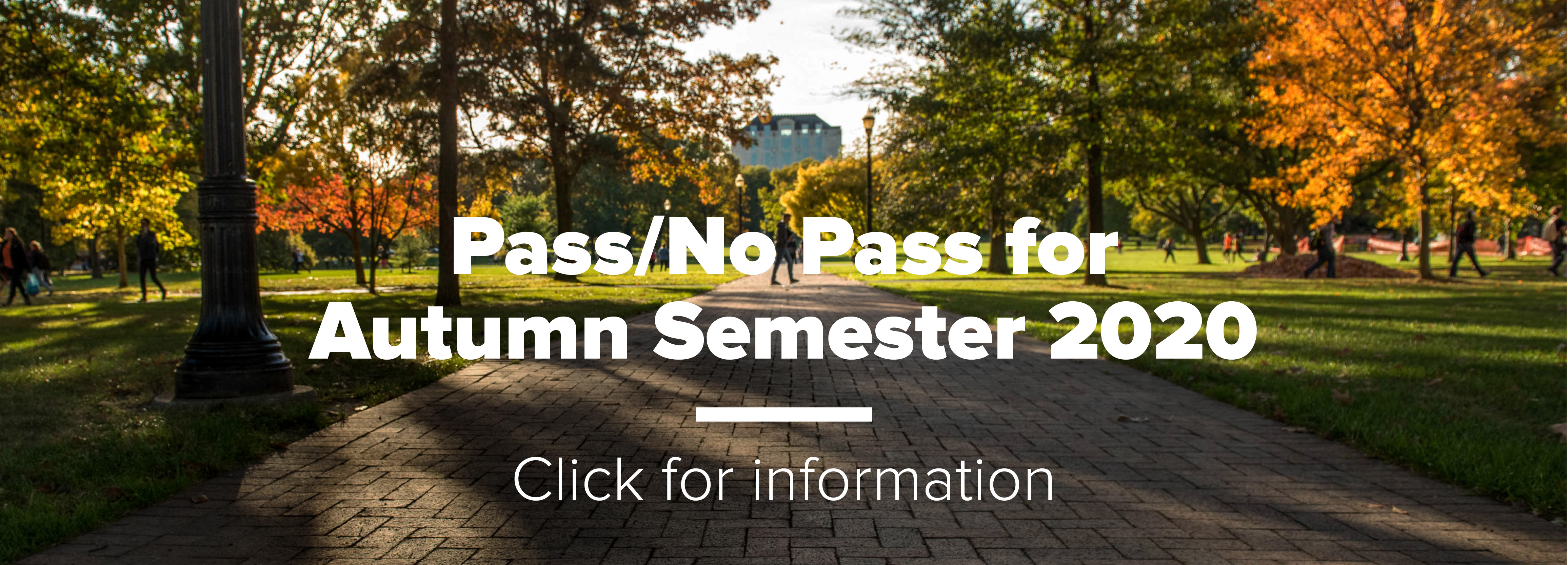 Pass/No Pass for Autumn Semester 2020 – Click for information