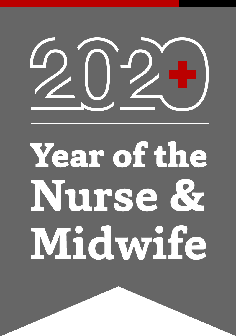 2020 Year of the Nurse & Midwife banner