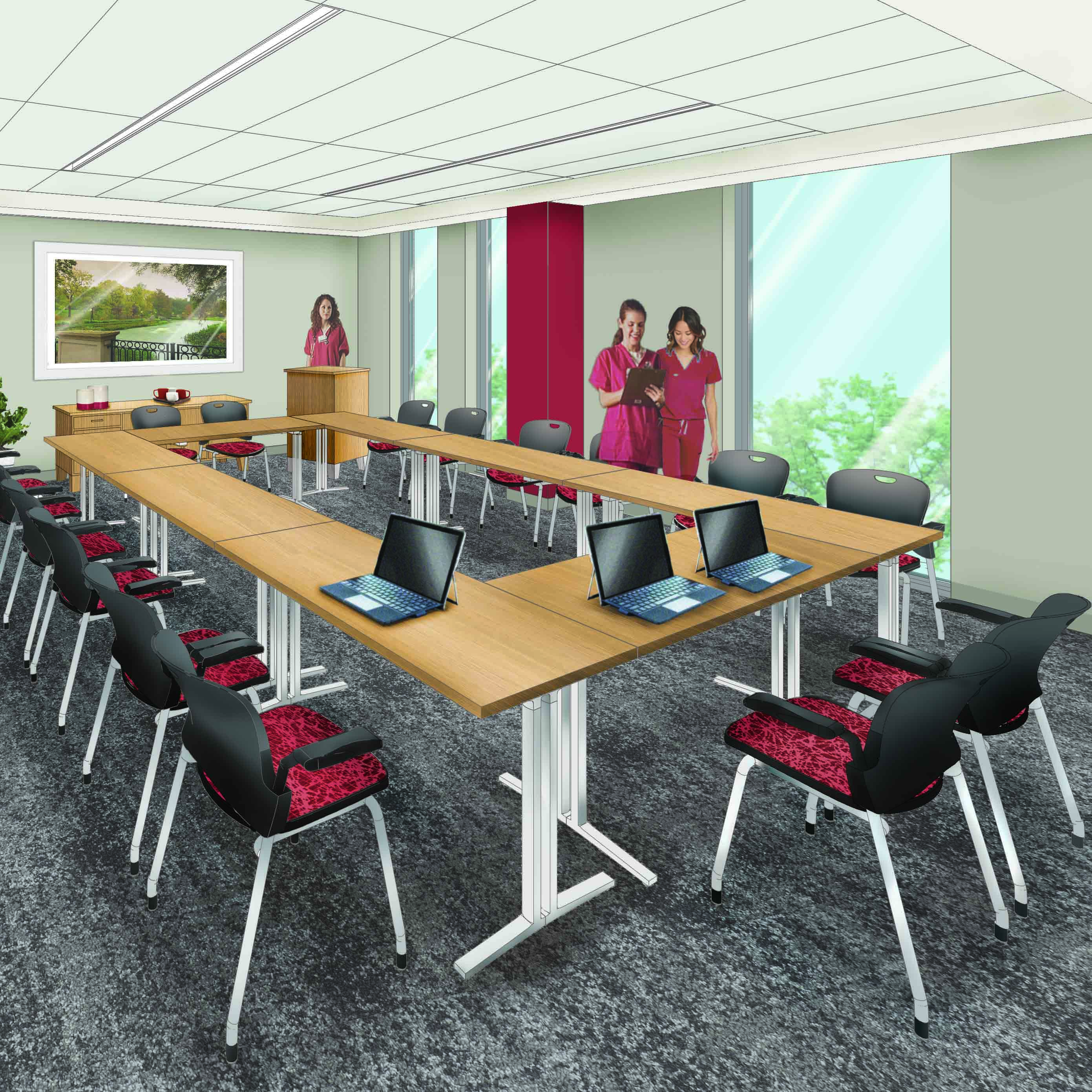 rendering of conference room