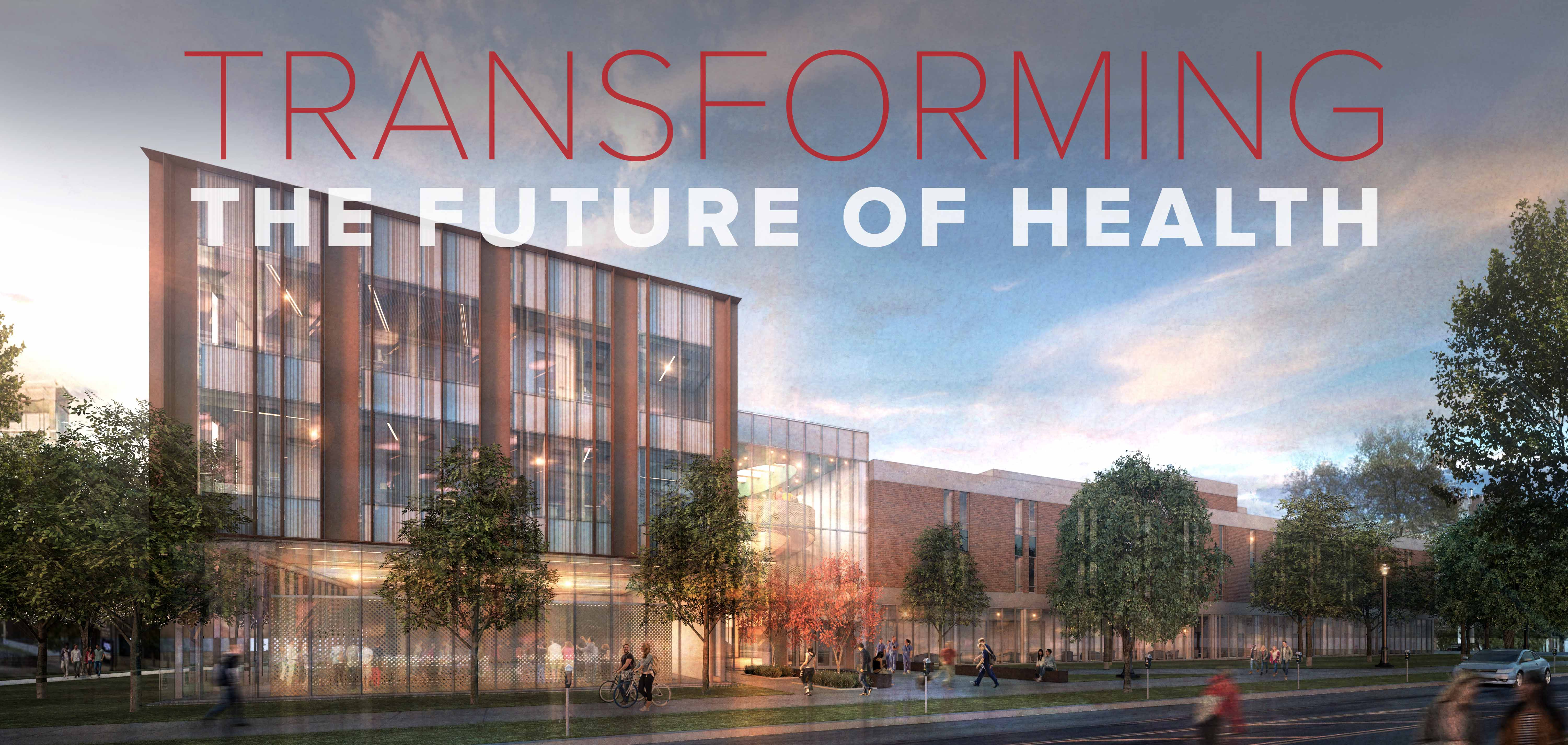 Transforming the Future of Health – rendering of Newton Hall addition