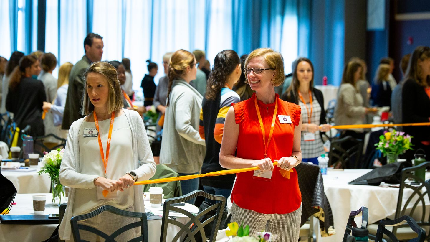 attendees participate in wellness activity at BHAC Summit