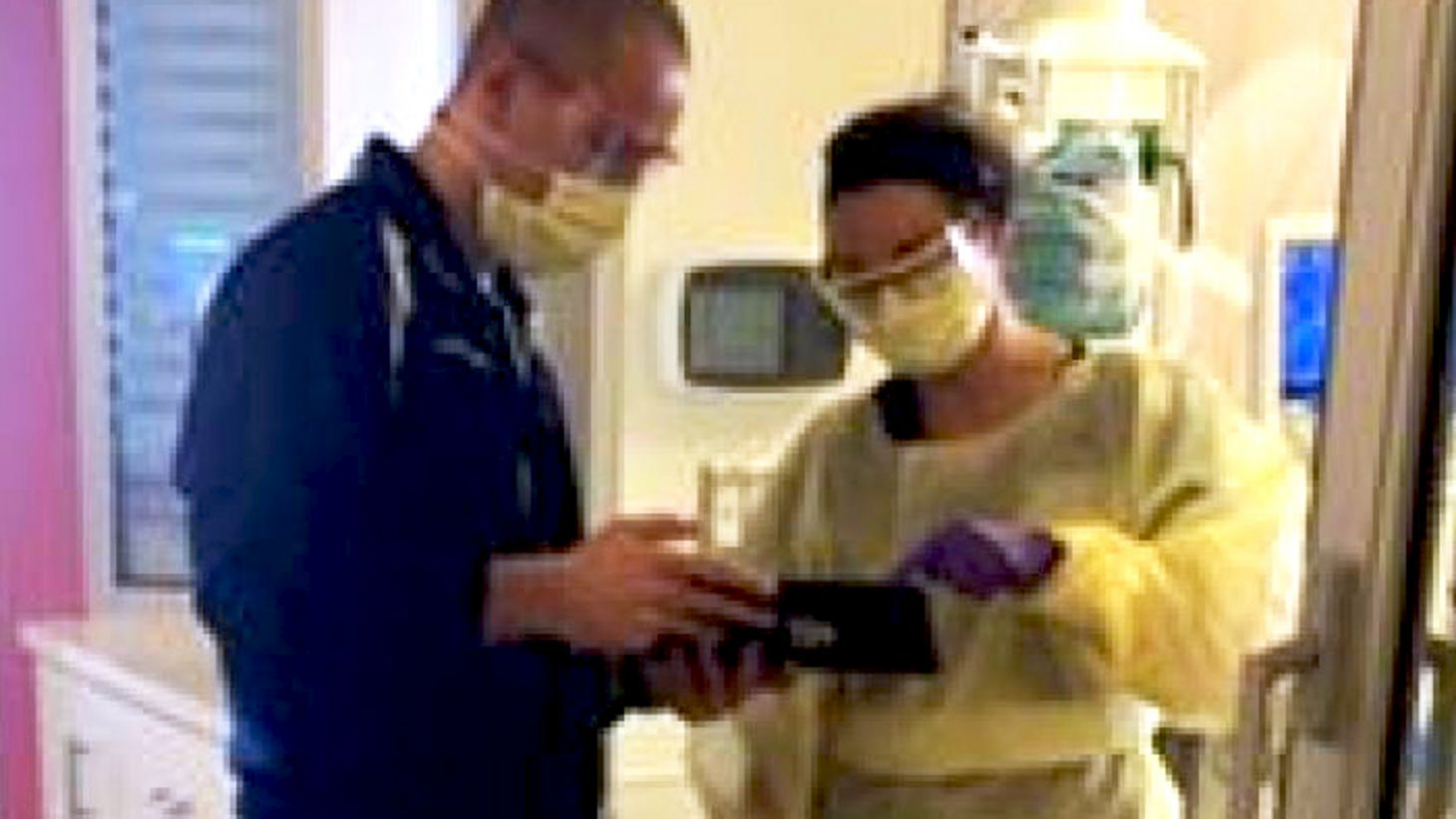 Justin Kelly at the James Medical Intensive Care Unit