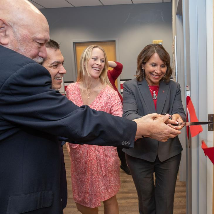 ribbon cutting at Million Hearts clinic launch event
