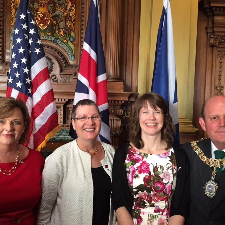 Dianne Morrison-Beedy with others in Scotland
